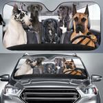 Great Dane Family Driving Car Sunshade - TG0721HN