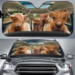 Highland Cow Family Car Sunshade - TG0721HN