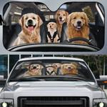 Golden Retriever Family Car Sunshade - TG0821QA