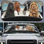 Cocker Spaniel Family Car Sunshade - TG0821DT