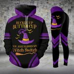 Dark Purple Witch Switch Halloween Legging and Hoodie Set - TG0821HN