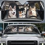 Husky Family Car Sunshade - TG0821QA