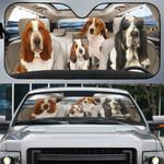 Basset Hound Family Car Sunshade - TG0821HN