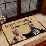 German Shepherd 2 All Guest Must Be Approved Doormat - TG0821QA