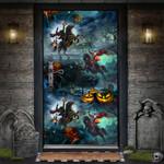 Halloween Pumpkin Horseman Door Cover - TG0821DT