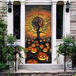 Halloween Pumpkin Graveyard Door Cover - TG0821HN