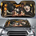 Halloween Version Labrador Family Car Sunshade - TG0821QA