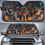 Halloween Version German Shepherd Family Car Sunshade - TG0821TA