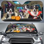 Halloween Version Border Collies Family Car Sunshade - TG0821HN