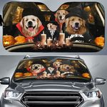 Halloween Version Golden Retrievers Family Car Sunshade - TG0821QA