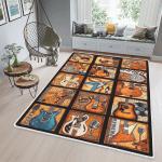 Vintage Tile Guitars Area Rug - TG0821QA