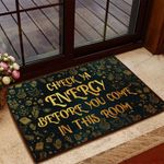 Check Ya Energy Before You Come in This Room Witch Doormat - NH0821QA