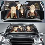 Hereford Cattle Family Car Sunshade - TG0821QA