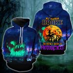 Witch My Broom Broke So Now I Ride A Motorcycle Hoodie - NH0821DT