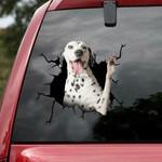 Dalmatian Cracked Car Decal Sticker - NH0821