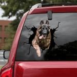 German Shepherd Cracked Car Decal Sticker - NH0821OS