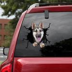 German Shepherd Cracked Car Decal Sticker - NH0821