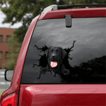 Black Labrador Cracked Car Decal Sticker - NH0821