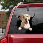 Labrador Retriever Cracked Car Decal Sticker - NH0821