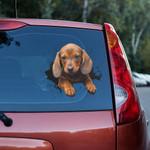 Dachshund Puppy Crack Car Decal Sticker - TG0821QA