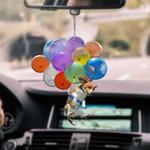 Beagle With Colorful Balloons Flat Car Ornament - TG0921QA
