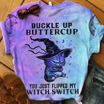 Buckle Up Butter Cup Cat Witch TShirt and Hoodie - NH0921DT