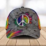 Peace Sign Tie Dye Classic Cap - TG0921TA