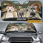 Personalized Schnauzers Family Car Sunshade - TG0721HN