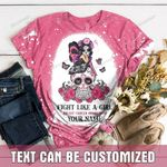 Fight Like A Girl Pink Personalized TShirt and Hoodie - TG0921QA