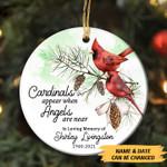 Cardinals Appear Pine Tree Ornament - TG0921TA