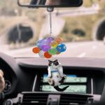 Cat Colorful Balloon Flat Car Ornament - TG0921DT