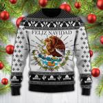 Black Feliz Navidad Mexican Wool Sweater - PD0921DT