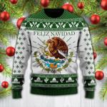 Green Feliz Navidad Mexican Wool Sweater - PD0921DT