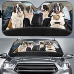 St Bernard Dog Family Car Sunshade - TG0921DT