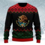 Mexican Christmas Black Wool Sweater - PD1021HN