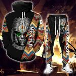 Mexica Warrior hoodie sweatpant set + wool sweater - PD1021DT