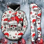 Skull Santa Hat Christmas Legging and Hoodie Set
