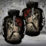 Skull On Dark King Queen Couple Hoodies