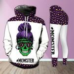 Momster Skull Purple Legging and Hoodie Set - TG0721OS