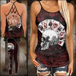 Skull Aces Of Anarchy Criss-cross Tanktop and Legging set (buy both for 10% discount)
