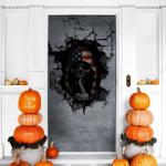 Skull 2 Halloween Door Cover - TG0821QA