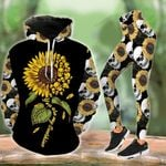 Skull You Are My Sunshine Flower Legging and Hoodie Set