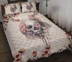 Flower Skull Quilt Bed Set