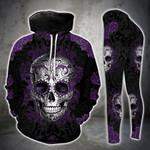 Purple Skull Gothic Legging and Hoodie Set