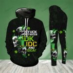 Skull Stuck Between Thoughts St. Patrick's Day Legging and Hoodie Set