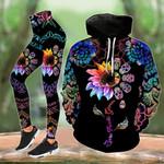 Skull Mandala Flower Rainbow Legging and Hoodie Set