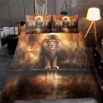 Glory Lion Standing By The Lake Bedding Set - TG1021QA