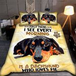 First Thing I See Every Morning Is A Dachshund Bedding Set - TG1021DT