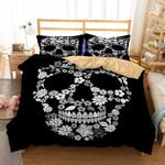 3D Bedding Set Skull Floral Print Dhc0201203Dd