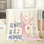 Always Be A Mermaid CLA1110220F Sherpa Fleece Blanket